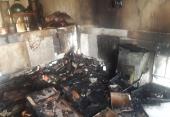 سرایت آتش منقل داخل کرسی باعث آتش سوزی ایوان باغ و فوت یک جوان  شد