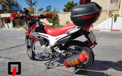 خریداری و تجهیز موتور سیکلت آتش نشانی