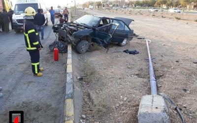 4 مصدوم در تصادف خودرو