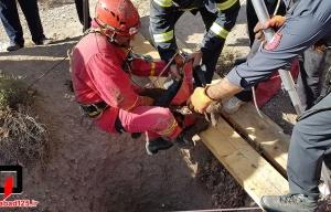 نجات بزغاله از عمق 40 متری