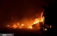 راننده کامیون در آتش سوخت