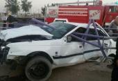 پنج مصدوم در اثر واژگونی دوخودروی سواری پژو ویک دستگاه کامیونت