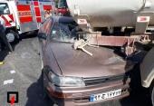 4 نفر مصدوم در تصادف خودرو