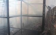 آتش در ساختمان نیمه ساخته