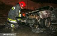 ۲ پراید و یک سورنتو درآتش سوخت -  لزوم توجه شهروندان برای عبور خودروهای امدادی