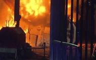 سقوط هلیکوپتر مالک لسترسیتی در پارکینگ ورزشگاه کینگ پاور