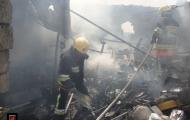 هم اکنون آتش سوزی انبار ضایعات واقع در کمر بندی جنوب نجف آباد