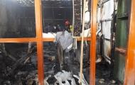 آتش سوزی درشهرک صنعتی پلیس راه نجف آباد