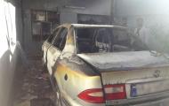 اتصالی سیم کشی برق باعث آتش سوزی خودروی سمند شد