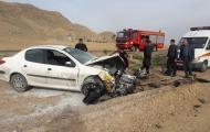 انحراف خودروی پژو206 از جاده در مسیرنجف آباد به فولاد شهر یک مصدوم برجا گذاشت