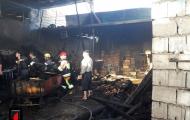 آتش سوزی در کارگاه چوب بری