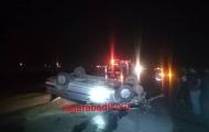 واژگونی دو دستگاه خودرو دو مصدوم بر جا گذاشت