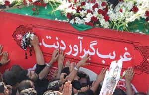 مراسم تشییع شهید مدافع حرم محسن حججی