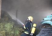 آتش سوزی در انبار علوفه دامداری