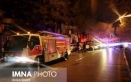 آتش سوزی مزدا ٣٢٣ در زیر گذر میدان احمد آباد